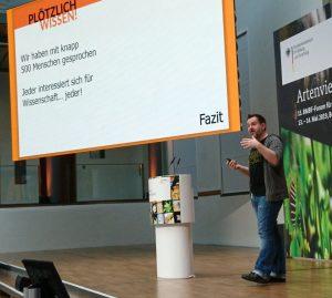 André beim Vortrag auf dem FONA Forum.