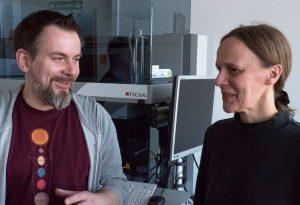 Dr. Gabi Andersen (rechts) und André