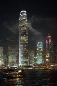 Hong Kong Star Ferry Pier bei Nacht