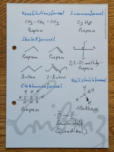 """Visualisierung der grundlgenenden Zeichenelemente die Bernd bei """"Sprache der Chemie"""" anspricht."""