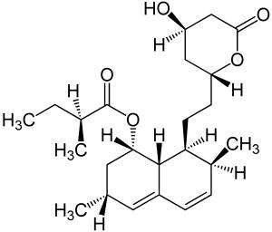 Struturformel Lovastatin